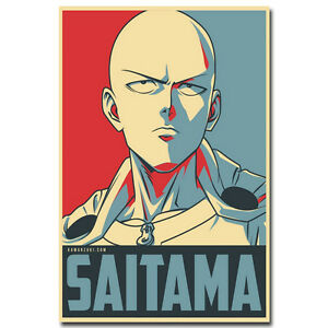 One-Punch-Man-Hot-Japanese-Anime-Vintage-Silk-Poster-12x18-24x36inch-Saitama-001