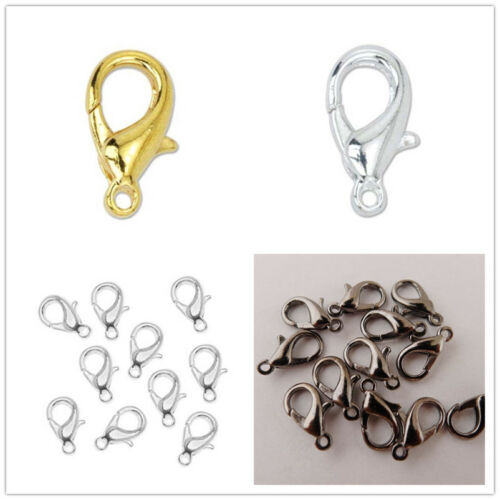 50//100Pcs Metal Lobster Claw Clasps DIY Necklace Bracelet Finding