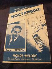 Partition Noctambule Roger Betton 1952 Music Sheet