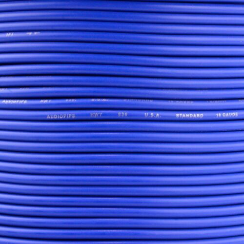 500/' FT Spool Of Blue 18 Gauge AWG Feet Home Primary Power Cable Remote Wire