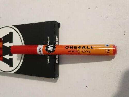 Traffic red Molotow 127HS one4all 2.0mm nib Acrylic craft refillable Paint pen