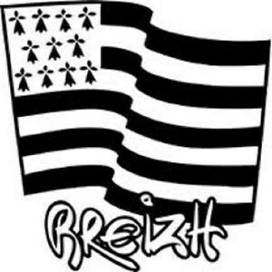 sticker d co autocollant vinyle adh sif drapeau breton gwenn ha du ebay. Black Bedroom Furniture Sets. Home Design Ideas