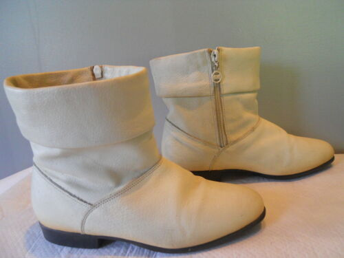 Vintage Thermolite 70s 80s Winter White Leather An