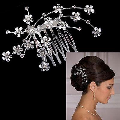9 x 6 cm Breit Blume Blatt Hochzeit Braut Haarschmuck Diademe Haarkamm