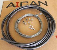 Aican Reaction Mtb Mountain Bike Brake Cable Housing Set Kit Ashima, Black