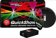 Designer Laser Software Pangolin QuickShow 3.0 con fb3 USB ILDA interface, QS EXTRA CD