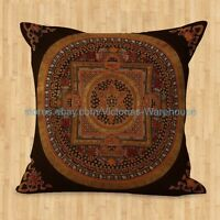 Us Seller- Cushion Cover Tibetan Buddhism Mandala Pillow Covers Decorative