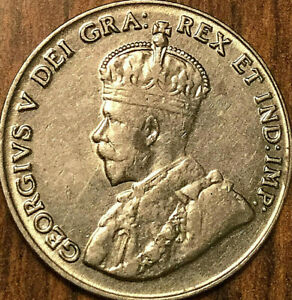 1929-CANADA-5-CENTS-COIN-Excellent-example
