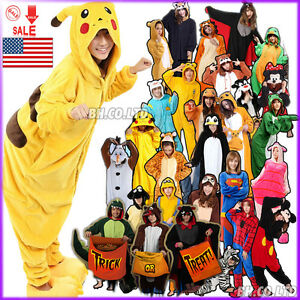 NEW Kigurumi Pajamas Anime Fancy Cosplay Costume Unisex Adult Sleepwear Outfit