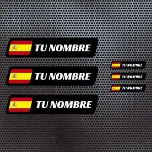 6-x-BANDERA-ESPANA-NOMBRE-PEGATINA-VINILO-CASCO-BTT-BICICLETA-PERSONALIZABLE