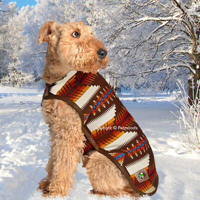Chilly Dog Coat Blanket Southwest Brown Handmade Wool [M - L] NEW 2018