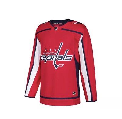 2febfe67 Adidas Washington Capitals NHL Hockey Jersey Mens Sz 52 Climalite + Fight  Strap