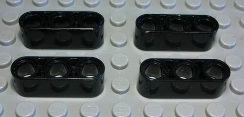 503 # Lego Technic Lochbalken 1x3 Schwarz 4 Stück
