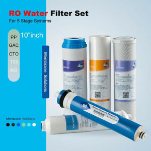 50 Gpd Complete Ro Water Filter Set Replacement For Apec Essence Roes 50 System Ebay