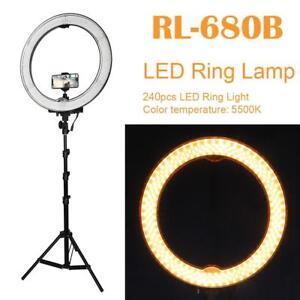Camera-Photo-Studio-Phone-Video-55W-240LED-Ring-Light-5500K-Ring-Lamp-w-Tripod