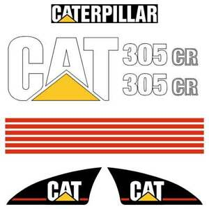 Cat 312 decals stickers kit laminated repro kit