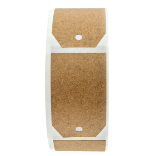 300 Blank Kraft Paper Gift Tags Adhesive Stickers Wedding Party Favor Labels