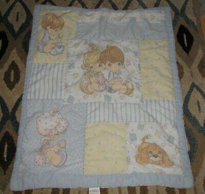 Precious Moments Baby Quilt Cobertor Edredom Menino Menina Infantil Cachorrinho Coração Azul Ebay