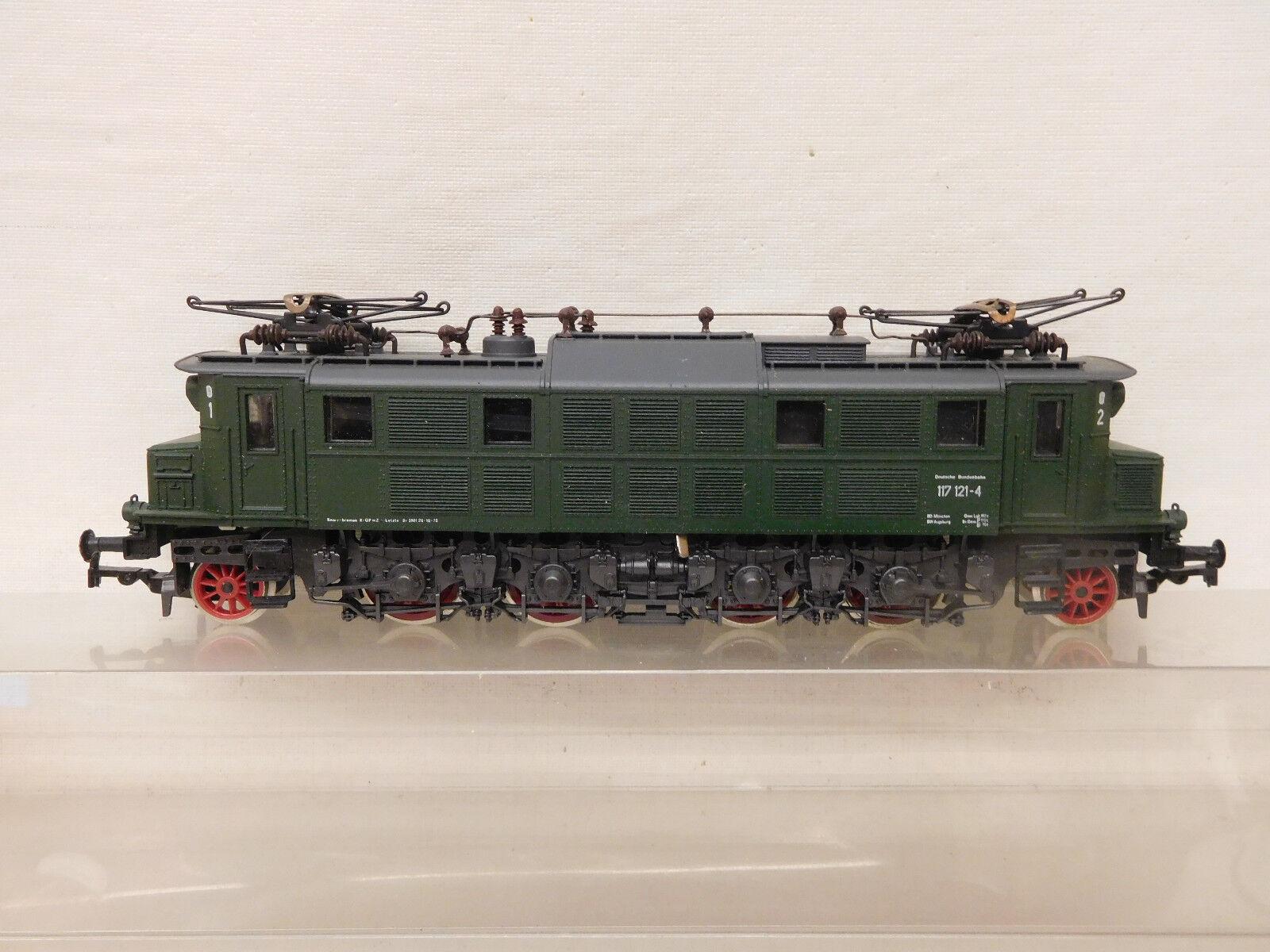Mes-58152 1668 Rivarossi h0 e-Lok DB 117 1214-4 muy buen estado,