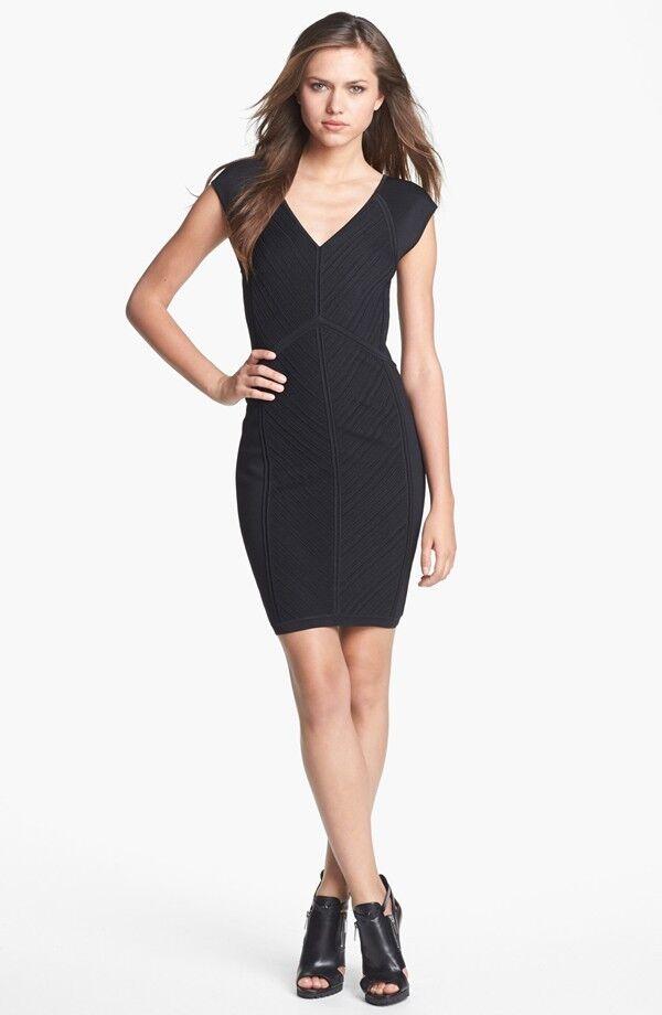 Diane von Furstenberg Navy 'Cressida' Knit Body-Con Dress ( Size Size Size S) 9f2871