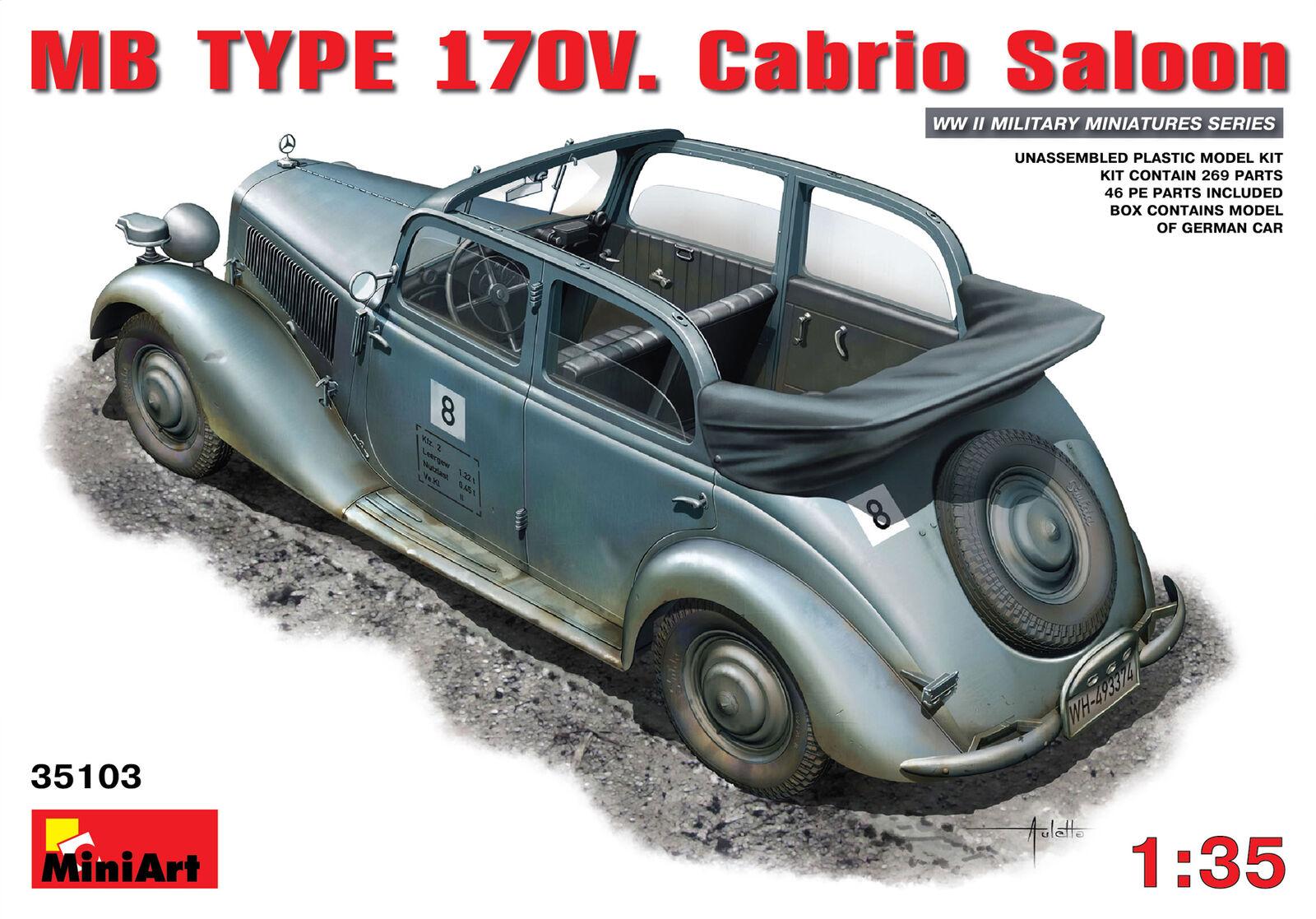 MiniArt 1 35 Mercedes Benz Type 170V Cabrio Saloon @