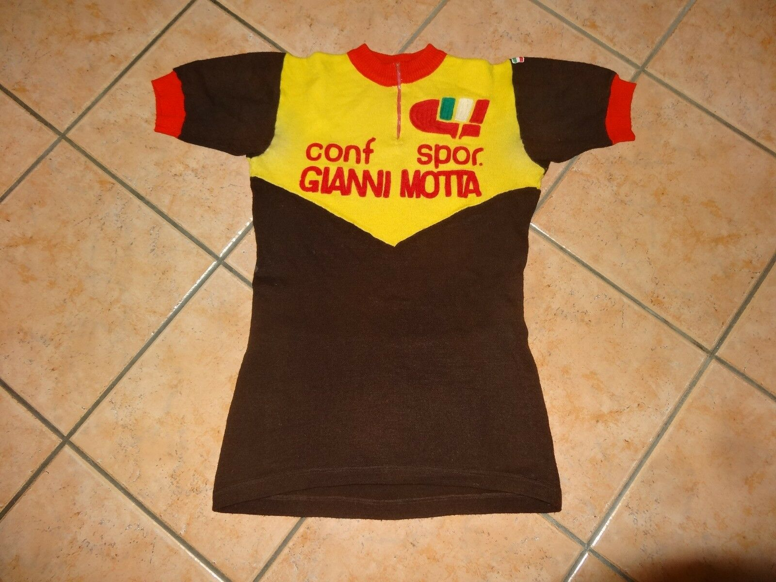 Vintage Gianni Motta cycling wool jersey L'Eroica