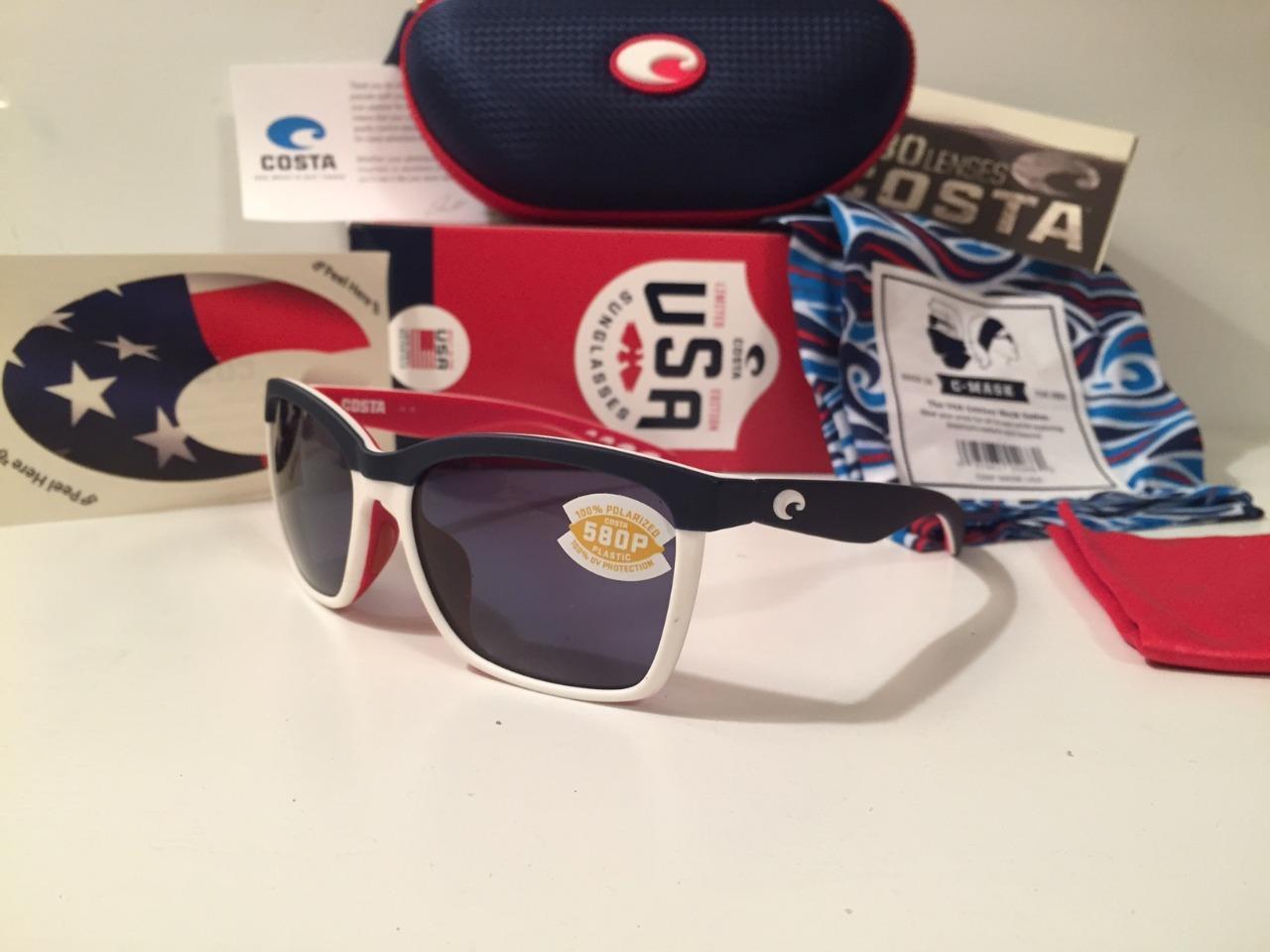 Costa Del Mar Anaa Men/'s Sunglasses USA Blue//Gray 580P Polarized ANA112 NEW