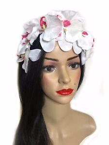 Handmade White Orchid Fleur Serre-tête Fascinator Déclaration Bridal Bandeau 293-afficher Le Titre D'origine Pour Assurer Une Transmission En Douceur