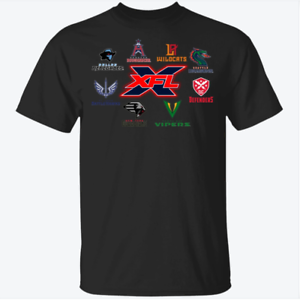 8 Teams XFL Professional American Football 2020 T-Shirt For Fans Tee All Size