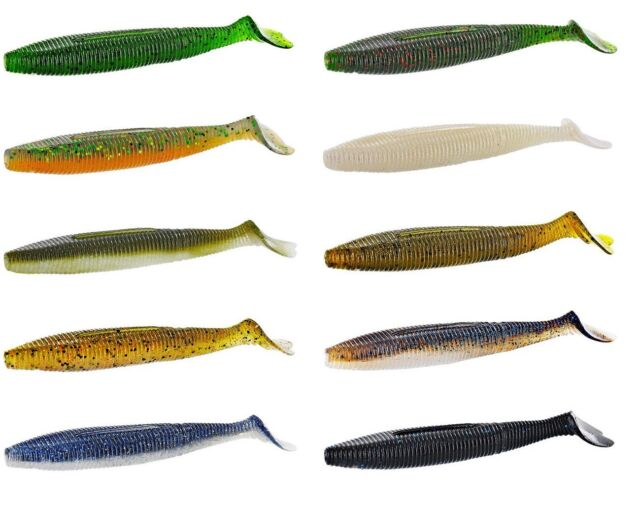 "Gary Yamamoto Heart Tail Shad Paddle Tail Soft Plastic Swimbait 4.5"" 5pk"