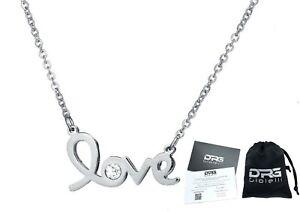 Collana-Donna-Argento-Acciaio-Inox-Incisione-LOVE-Cuore-Cristallo-Nome-Dedica
