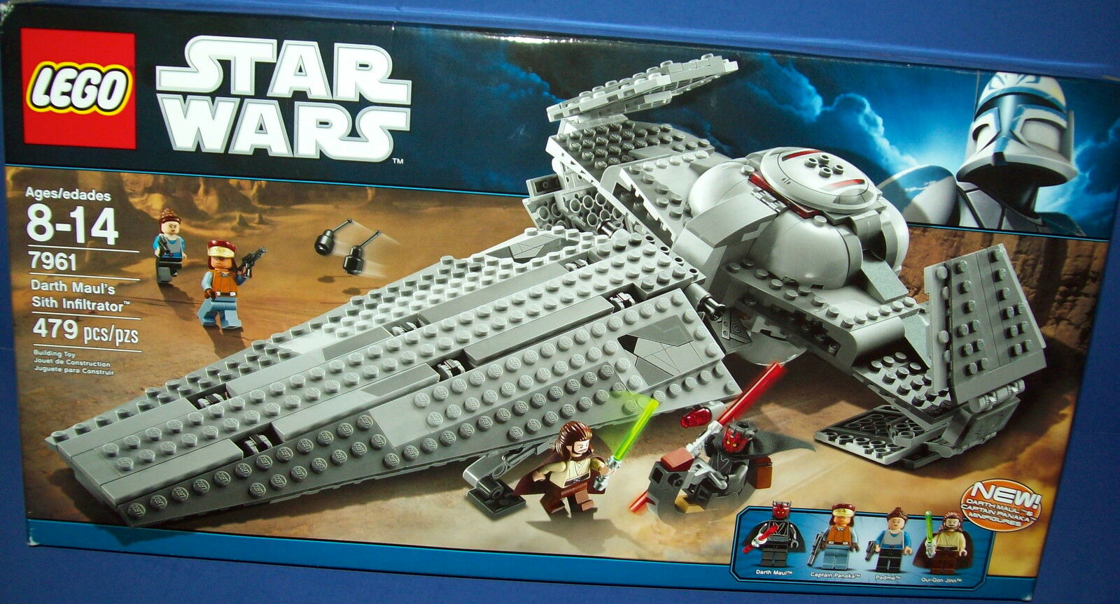 LEGO 7961 DARTH MAUL'S SITH INFILTRATOR star wars RETIROT NEW 479 pcs