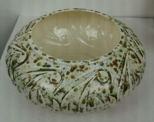 Very-Rare-Vintage-Paisley-Speckled-Atlantic-Mold-Planter-70-034-s-7-034-Opening