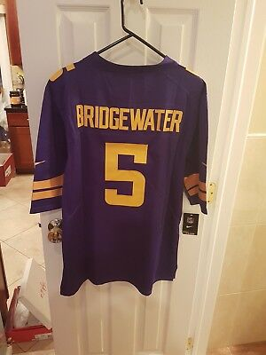 low priced 79b00 5cba9 Minnesota Vikings teddy Bridgewater number #5 large Jersey purple sticthed  SALE | eBay