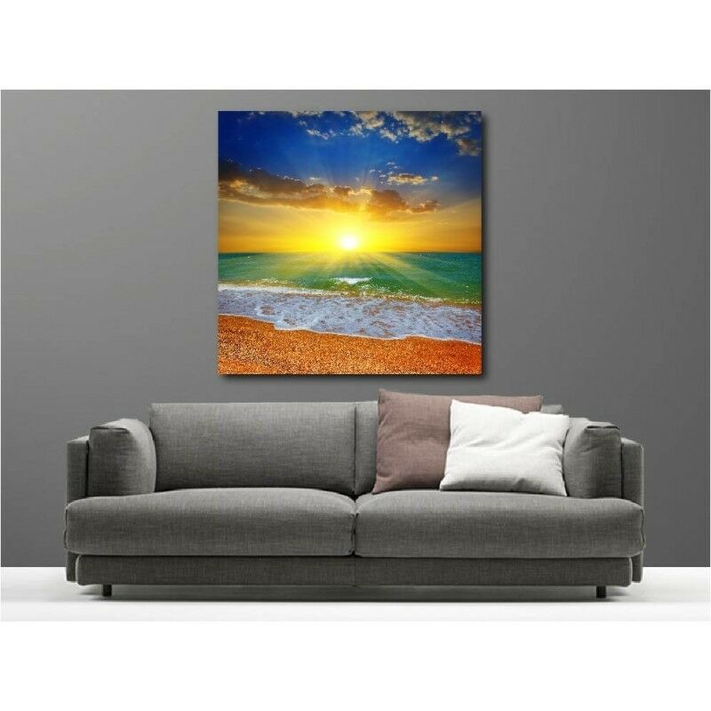 Canvas Fabric Deco Square Lying Sunset 12025816