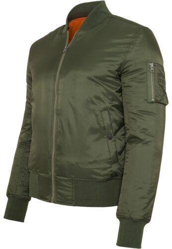 Urban classics Basic Bomber Jacket Men/'s Pilot/'s Flight Jacket Army NYLON S 5XL