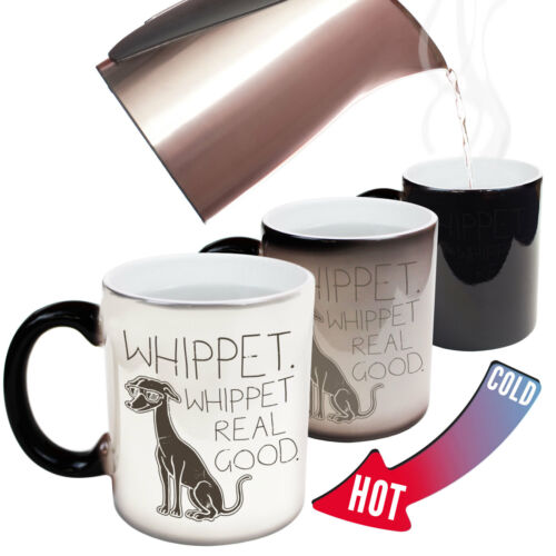 Funny Mugs Whippet Real Good Animals Christmas COLOUR CHANGING NOVELTY MUG