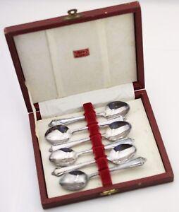 Vintage Silver Plate Tea Spoon Set Boxed RODD Cutlery High Tea Teaspoons EPNS