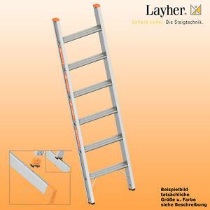 Layher Alu Stufenanlegeleiter Leiter 6 Stufen M Traverse L 1 70m
