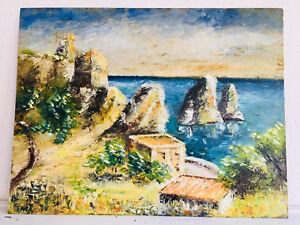 tableau-ancien-huile-sur-panneau-inconnu-XXe-s-paysage