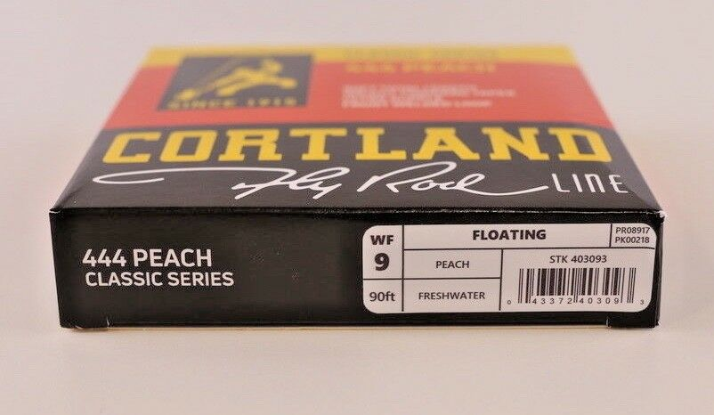 Cortland 444 Classic Peach Fly Line WF9F Expedited Free Expedited WF9F Shipping 403093 0c3405