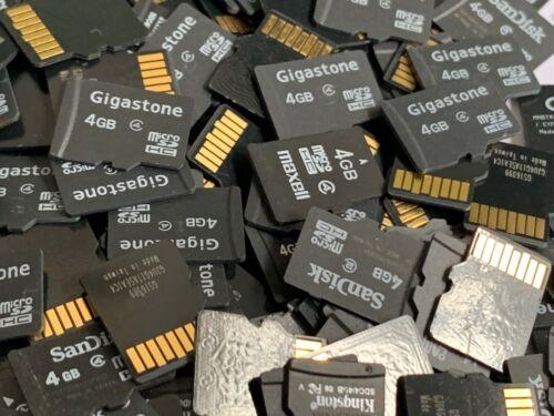 Lote de 100 Mezclados marca de tarjetas de memoria 4GB Micro SD al por mayor $2.49 Cada Uno!!!