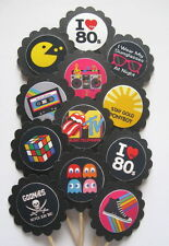 80's Decade  Cupcake Toppers/Party Picks  Item #1134 Party