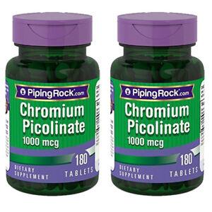 Ultra-Chromium-Picolinate-1000-mcg-2X180-Tabs-Piping-Rock