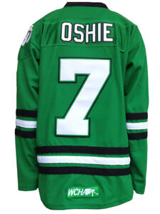 North Dakota Fighting Sioux 7 TJ Oshie College black-white-green ... 8c0fc35951e