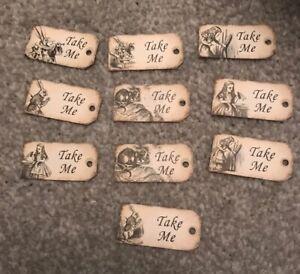 10-Tiny-Alice-in-wonderland-Take-Me-tags-Wedding-Birthday-tea-party-Decorations