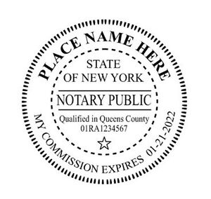 Image Is Loading New York Custom Round Self Inking NOTARY SEAL