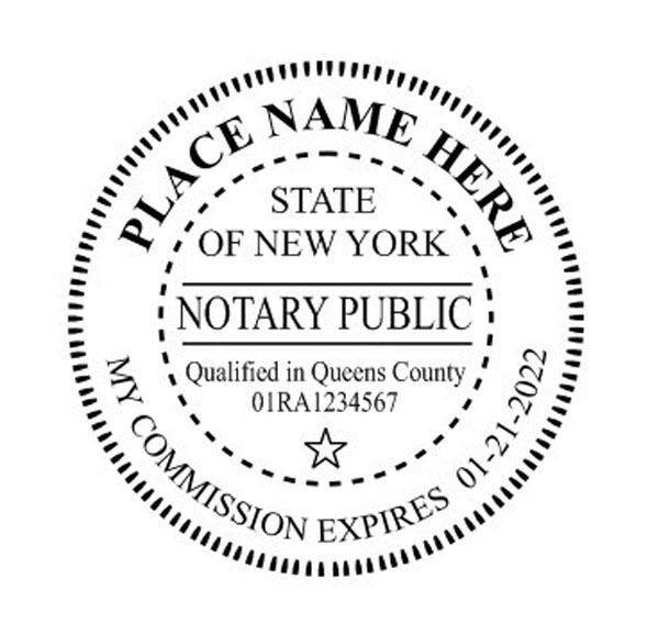 New York Custom Round Self Inking Notary Seal Rubber Stamp