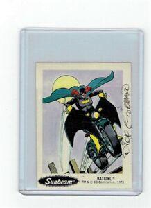 Sunbeam-Bread-DC-Super-Heroes-Sticker-Card-13-Dick-Giordano-Signed-Batgirl