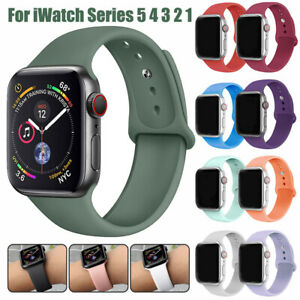 For Apple Watch Series 5 4 3 2 Sports Silicone Band Strap Bracelet 38 42 40 44mm Ebay
